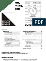 Rain Bird Installation Programming and Operation