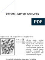 Crystallinity of Polymers