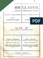 Glasnik Zemaljskog Muzeja Sveska 2 - Prirodne Nauke 1937