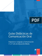 Guía Didactica fr Comunicacion Oral Mineduc