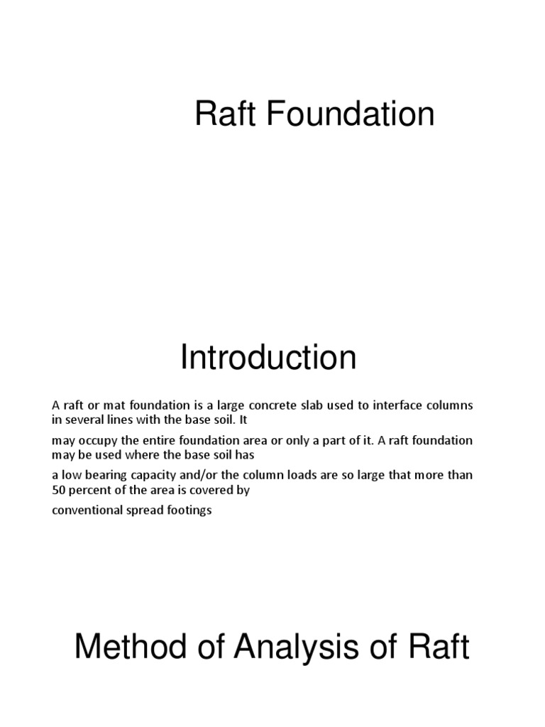 Raft Foundation ppt | Beam (Structure) | Finite Element Method