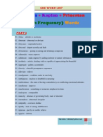 High Frequency GRE Word List 03 of 05