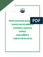 pedoman beasiswa 2012-2013