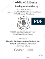 Timber Sale Contract Between Forestry Development Authority (FDA) & Thunder Bird Int'l Lib. a-8