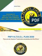 ( Overview )Follow Up Cascading of Pnp Patrol Plan 2030