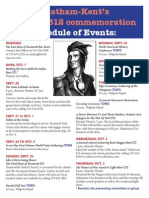 Chatham-Kent War of 1812 commemoration events schedule