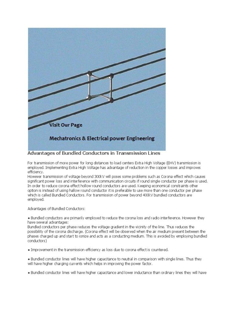 Advantages of Bundled Conductors in Transmission Lines