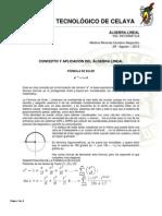 FORMULA DE EULER ÁLGEBRA LINEAL1