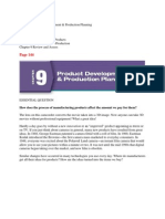 chapter 9 product development  production planning p144-161