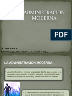 Diapositivas de La Administracion Moderna
