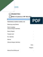 Form Data Nasabah