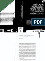 Políticas de privatización, espacio público y educ en A