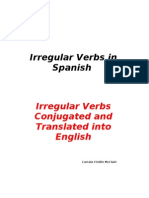 Spanish Irregular Verbs Conjugated and Translated