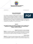 Reglamento Parcial LOTTT-Gaceta Oficial No 40.157[1] Copy