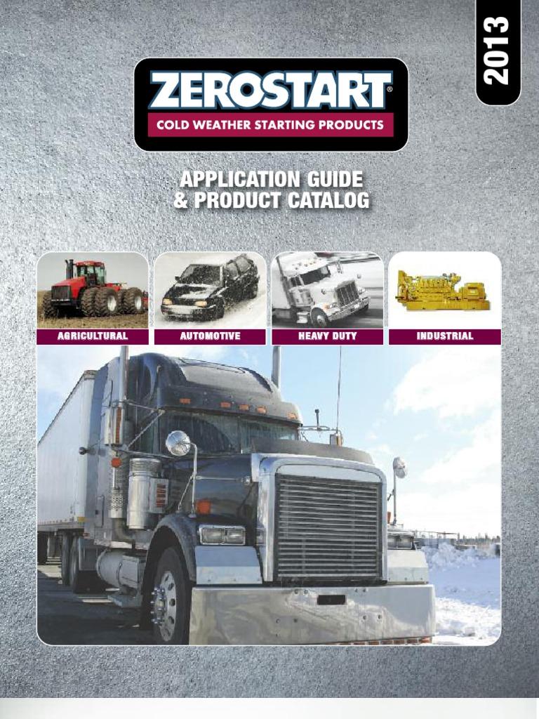 2013 Zerostart Catalog | V6 Engine | Inline Four Engine