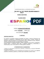 PLAN ANUAL DE ESPAÑOL 2.2012-2013