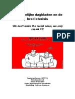 De Landelijke Nederlandse Dagbladen en de Kredietcrisis