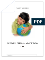 Business Ethics - A Look Into CSR