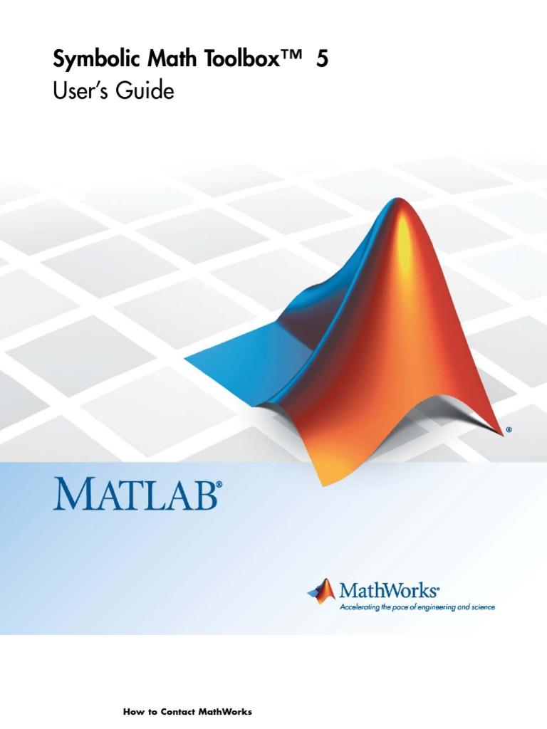 Symbolic Math Toolbox Matlab Matlab Matrix Mathematics