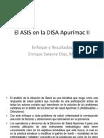 El ASIS en la DISA Apurímac II