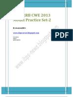 RRB Model Set 2 for IBPS RRB CWE 2013