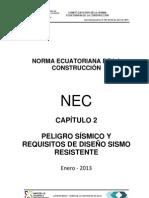 Nec2011-Cap2-Peligro Sismico y Requisitos de Diseno Sismo Resistente-2013