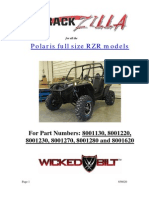 2008 2013 Rzr Rackzilla Installation Instructions