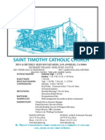 St. Timothy L.A. June 14 Bulletin.