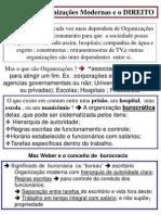 8ª Aula_Weber  o Direito e Organiz. Modernas 2012