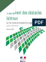 Traitement Des Obstacles Lateraux Sur Les Routes Principales Hors Agglomeration