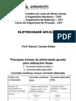 Eletricidade Aplicada CET CEM CEP CC Versus CA