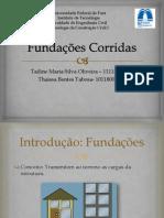 Fundações Corridas slide - Cópia