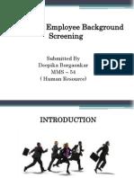 Employee Background Screening