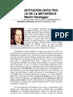 LA CONSTITUCIÓN ONTO-TEO-LÓGICA DE LA METAFÍSICA