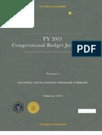 US Spy Budget FY2013