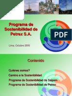 Programa de Sostenibilidad de Petrex_uni