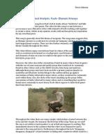Media Studies A2- Music Video Textual Analysis