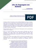 Conceito de Linguagem Em Bakhtin