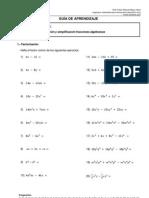 4c2b0 Guc3ada Mat 011 Factorizacic3b3n y Simplificacic3b3n Fracciones Algebraicas