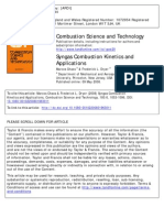 Syngas Combustion Kinetics and Applications