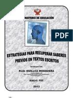 ESTRATEGIAS PARA RECUPERAR SABERES PREVIOS EN COMPRENSIÓN LECTORA