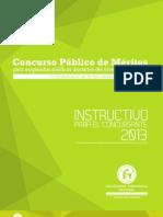 Instructivo Concurso Publico Meritos Docentes 2013