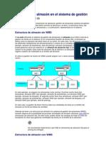 Estructura de almacén en el sistema de gestión de almacenes