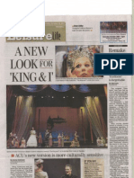 King and I Reporter News Article