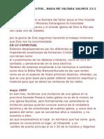 INFORME Y PETICIONES EN HAITÍ - JUNIO DE 2009