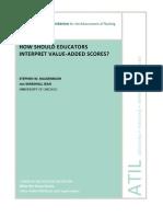 How Should Educators Interpret Value-Added Scores Oct 2012 Carnegie Foundation