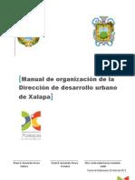 Manual de organización de la Dirección de desarrollo urbano de Xalapa(1)
