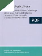 Agua y Agricultura. A. Palerm