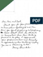 Nancy Shankle TSS Letter