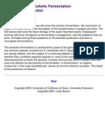 Alcoholic Fermentation Generalities. U of California